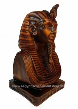 Ägyptische Büste Pharao Tutanchamun. - Bild vergrößern