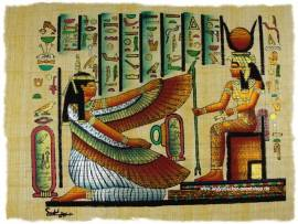 Ägyptischer Papyrus Isis und Hathor. Nr.2060 - Bild vergrößern