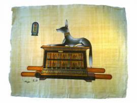 Papyrus Anubis - Bild vergrößern
