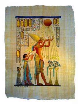 Papyrus Paharo Achnaton, die Sonnenscheibe - Bild vergrößern