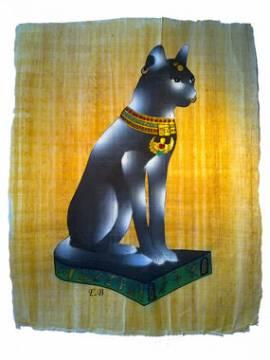 Papyrus Bastet -Katze- - Bild vergrößern