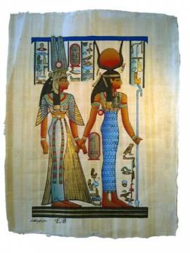 Papyrus Isis begleitet Königin Nefertari - Bild vergrößern