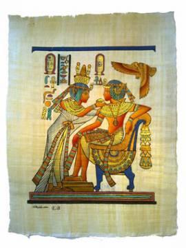 Papyrus Tutanchamun & Anchesenamun. - Bild vergrößern