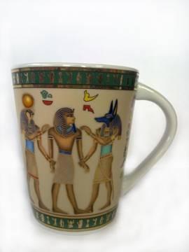 Porzellantasse Anubis, Horus und Tut - Bild vergrößern
