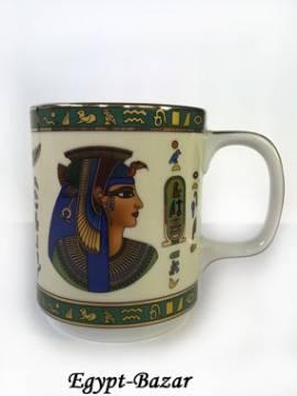 Porzellantasse Königin Kleopatra - Bild vergrößern