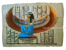 Ägyptischer Papyrus Geflügelte Isis - Bild vergrößern