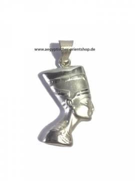 Nofretete Silberanhänger 2 seitig - Bild vergrößern