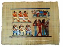 Ägyptischer Papyrus Bankett-Szene. Nr-2072 - Bild vergrößern