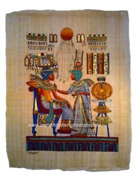 Papyrus Tutanchamun & Anchesenamun - Bild vergrößern