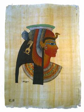 Papyrus Kleopatra - Bild vergrößern