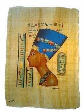Papyrus Nofretete. - Bild vergrößern