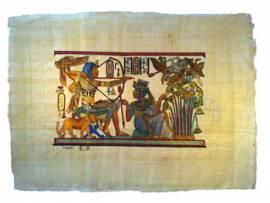 Papyrus Tutanchamun Vogeljagd - Bild vergrößern