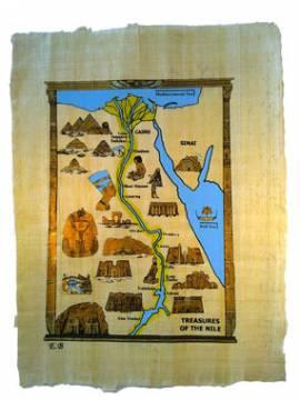 Papyrus Landkarte von Ägypten - Bild vergrößern