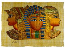 Papyrus Tutanchamun, Nofretete und Kleopatra - Bild vergrößern