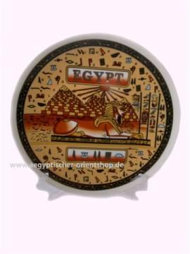 Porzellan Deko-Teller Sphinx & Pyramiden. 16 cm. - Bild vergrößern