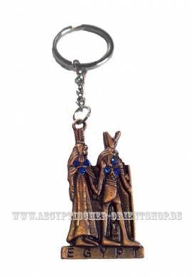 Ägyptischer Schlüsselanhänger Horus & Nefertari. Nr-059 - Bild vergrößern