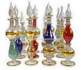 Set of 12 Egyptian perfume bottles.  - Bild vergrößern
