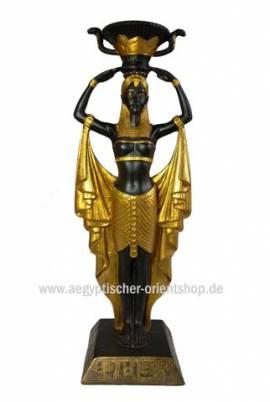 Ägyptischer Kerzenständer Kleopatra - Bild vergrößern