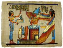 Papyrus Nepthys, Isis und Maat. - Bild vergrößern