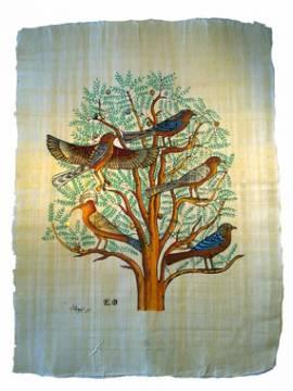 Ägyptischer Lebensbaum. Papyrus - Bild vergrößern