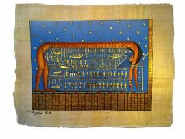 Papyrus. Astronomie. Göttin Nut - Bild vergrößern