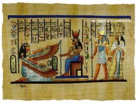 Papyrus Isis, Maat, Horus und Hathor - Bild vergrößern