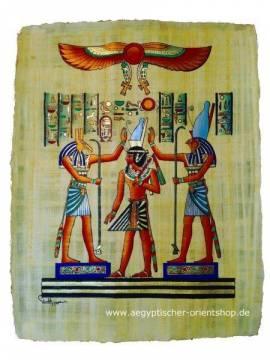 Ägyptischer Papyrus Horus - Bild vergrößern
