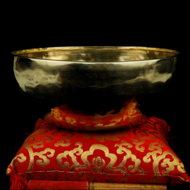 Klangschale Shanti goldfarbig. NE0285/24  - Bild vergrößern