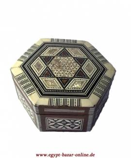 Ägyptische Perlmutt-Box - Bild vergrößern