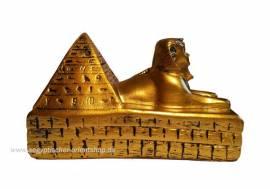 Ägyptische Figur Sphinx und Pyramide - Bild vergrößern