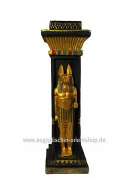 Ägyptischer Kerzenständer Anubis - Bild vergrößern