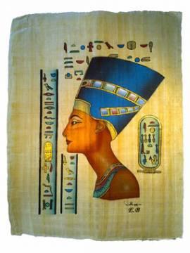 Papyrus Königin Nofretete. Nr-0700