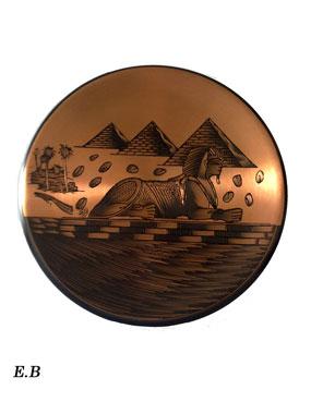 Aegyptische dekoration deko wandteller pyramiden und sphinx for Wanddeko kupfer