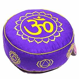 Yogakissen Meditationskissen 7. Chakra Om